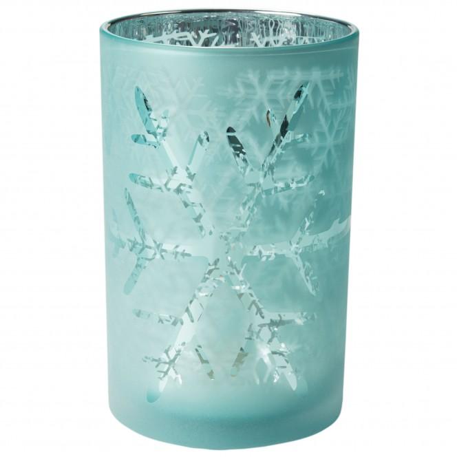 Odin-Teelichthalter-Hellblau-Tuerkis-12x12x18-per