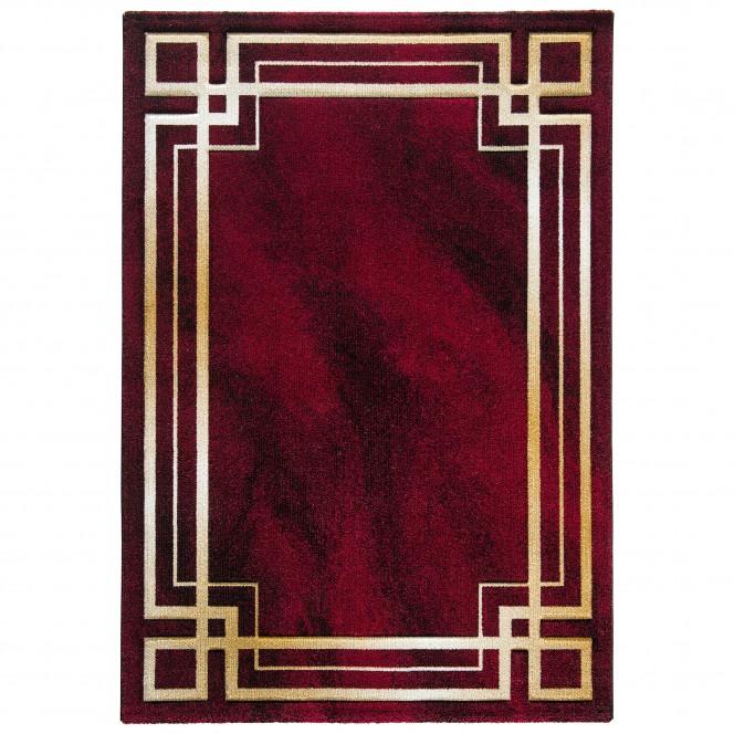 Caltagirone-Designerteppich-rot-Rubinrot-160x230-pla