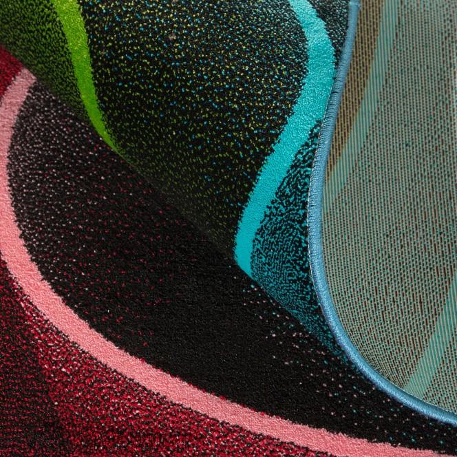 Spiral-DesignerTeppich-mehrfarbig-Multicolor-wel