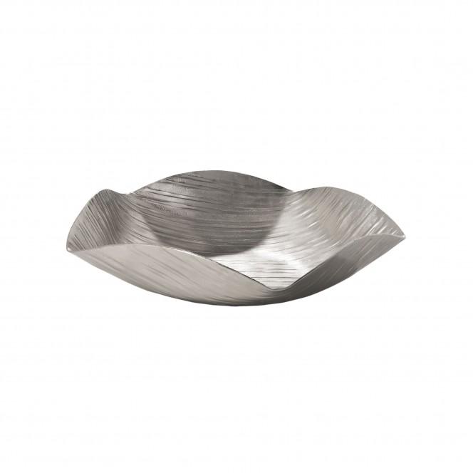 PolygonBowl-DekoSchale-Silber-32x32x7,5-per