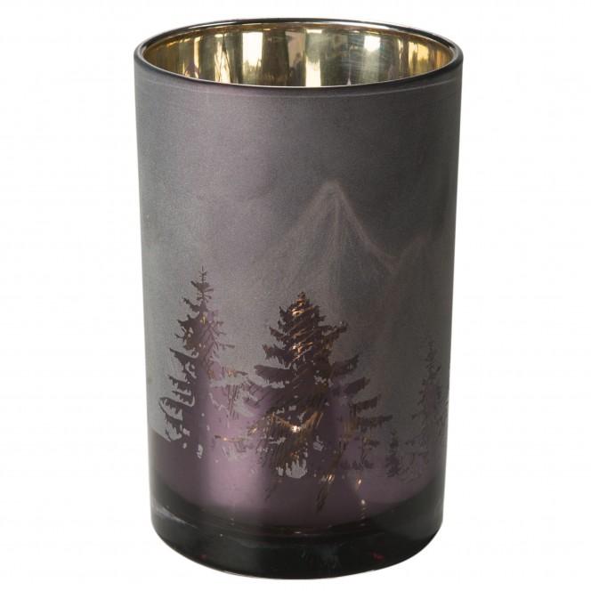 Berge-Teelichthalter-Braun-Gold-12x12x18-per