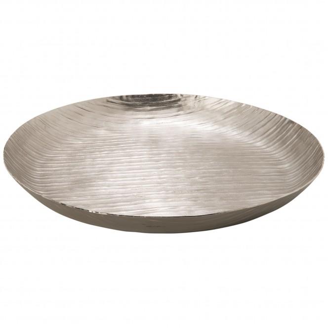 MattSilverLinear-DekoSchale-Silber-45rund-per1