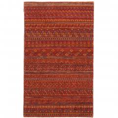 Sinjawi-GabbehTeppich-Orange-Rust-100x150-pla