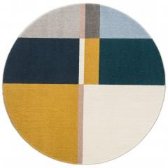 Horizon-DesignerTeppich-mehrfarbig-Multicolor-160rund-pla