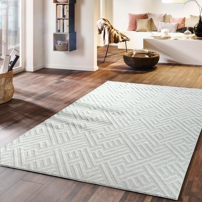 Ariadne-DesignerTeppich-hellgrau-Silber-170x240-mil