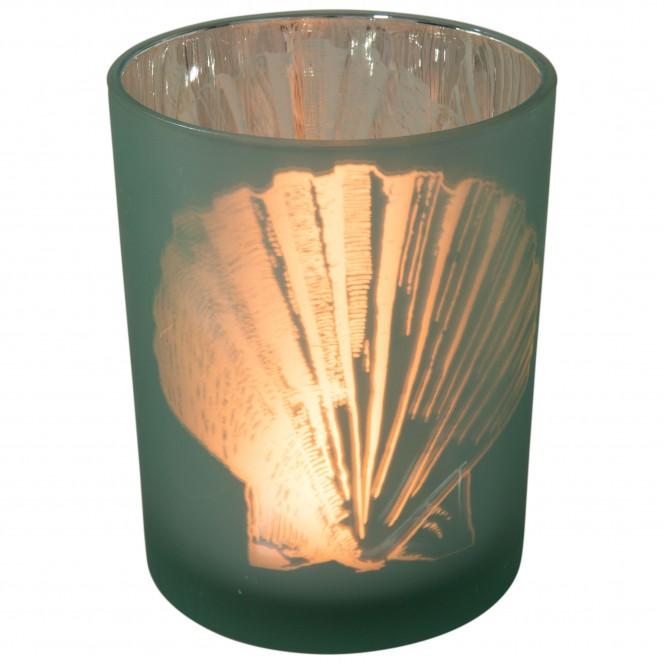 Muschelglas-Teelichthalter-Gruen-10x13-per2