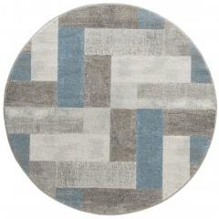 UrbanMaze-DesignerTeppich-Blau-BlueAvenue-160rund-pla