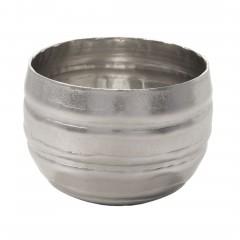 Charley-DekoVase-Silber-13x13x9-per