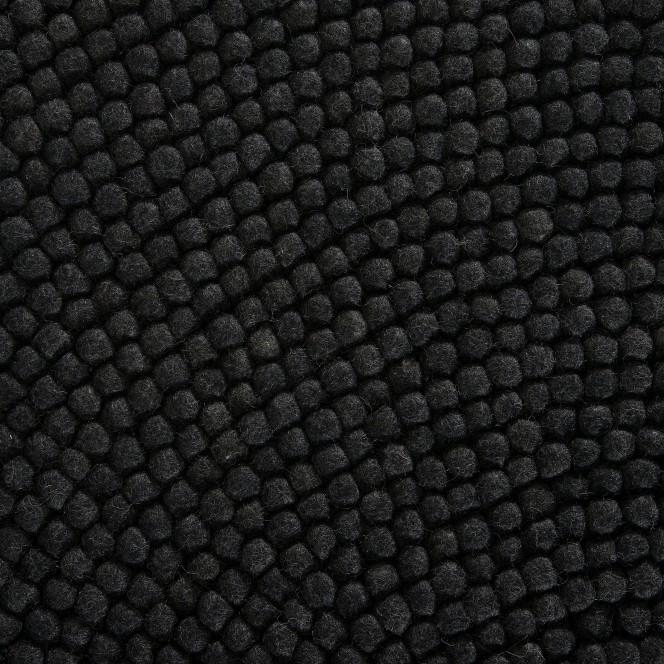 Smedby-FilzkugelTeppich-Schwarz-Black-200rund-lup