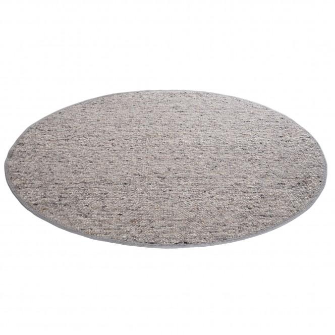 Lenggris-HandwebTeppich-grau-rund-per