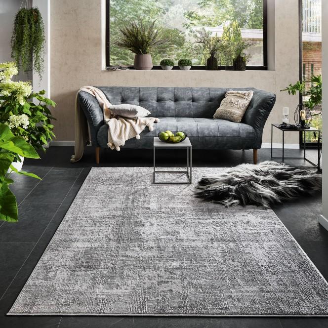 Cornhill-DesignerTeppich-hellgrau-Mattsilber-160x230-mil