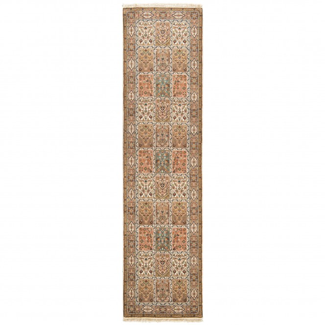 JahidpurBachtiar-OrientTeppich-Braun-NaturBeige-80x300-pla