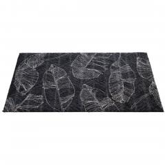 Fashion-Fußmatte-Dunkelgrau-LeavesLineAnthrazit-50x80-fper