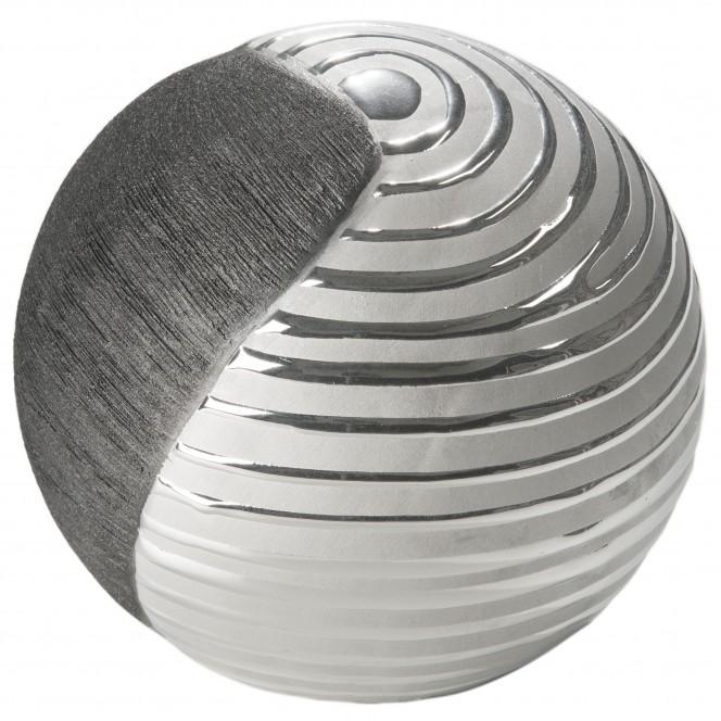 Macau-DekoKugel-Silber-SchwarzGrau-14x14x11,6-per2