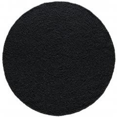 Smedby-FilzkugelTeppich-Schwarz-Black-200rund-pla