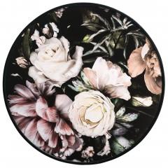 Flowermix-Druckgerahmt-mehrfarbig-Multicolor-60rund-pla