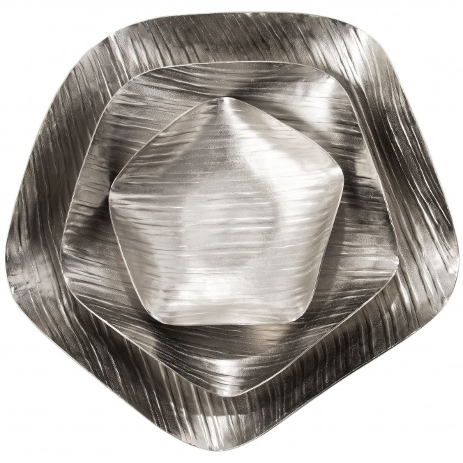 PolygonBowl-DekoSchale-Silber-Set-pla