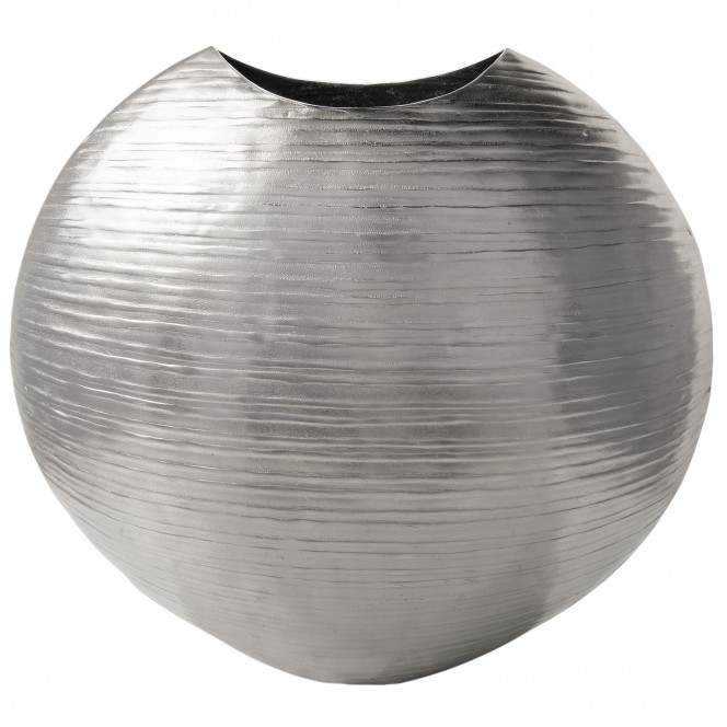 Disc-DekoVase-Silber-Silber-17x47x45-per