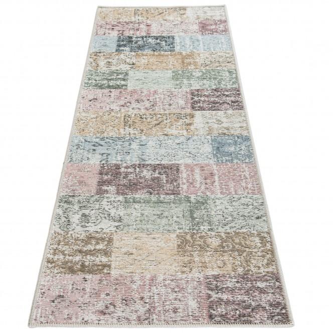 Doncaster-VintageTeppich-mehrfarbig-Grau-80x300-fper