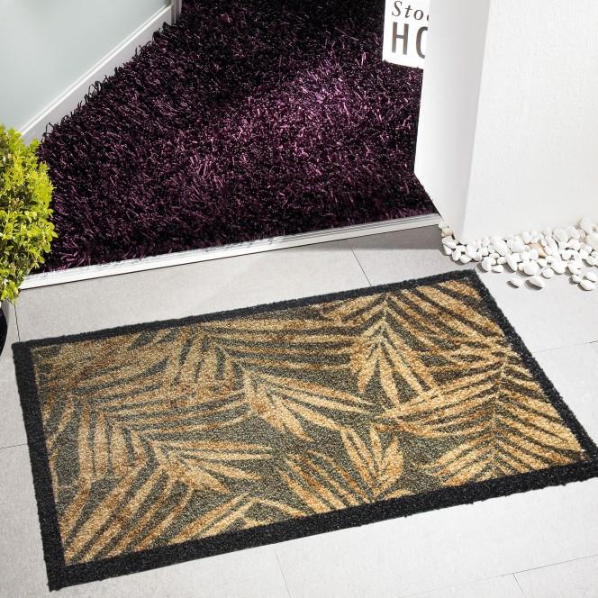 Fashion-Fussmatte-braun-GoldenLeaves-50x80-mil