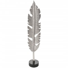 LeafSculpture-Objekt-Silber-10x11x56-per