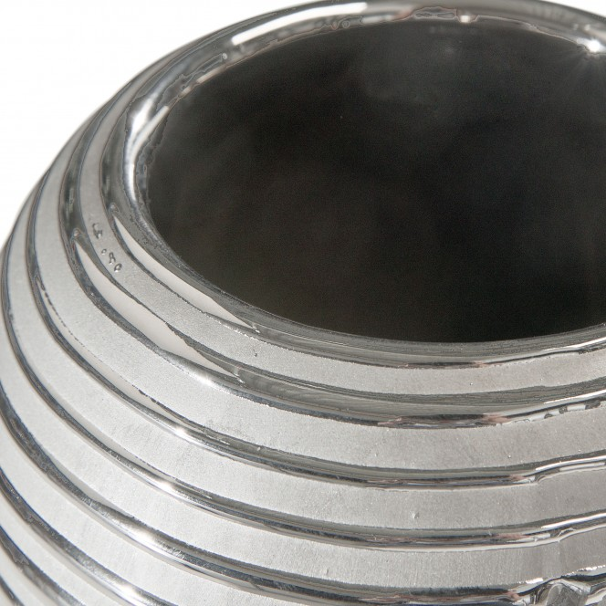 Macau-DekoVase-Silber-SchwarzGrau-schlank-lup1