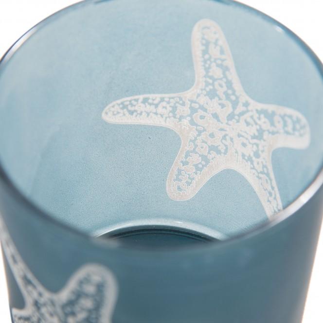 Seesternglas-Teelichthalter-Blau-Dunkelblau-7x8-lup1