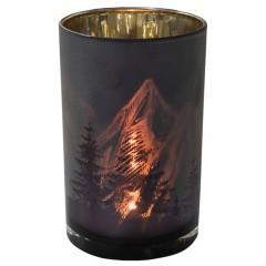 Berge-Teelichthalter-Braun-Gold-12x12x18-per2