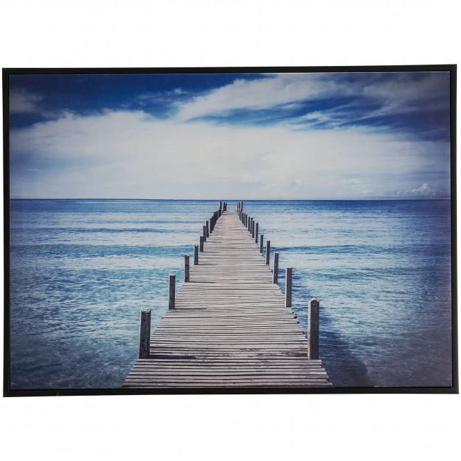 WeginsMeer-Leinwandbild-blau-Grau-50x70-pla