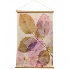 Blaettersicht-Leinwandbild-rosa-GruenRosa-60x90-pla