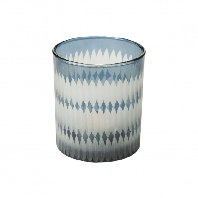 Merlin-Teelichthalter-blau-Grau-7x7x8-per