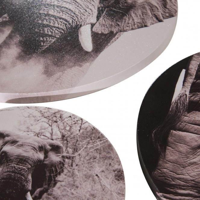 Canvas3er-Bild-Afrika-grau-Multicolor-40rund-lup