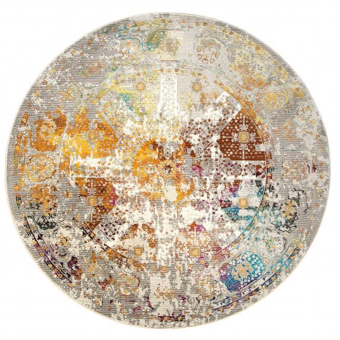 Figari-VintageTeppich-mehrfarbig-Multicolor-200rund-pla