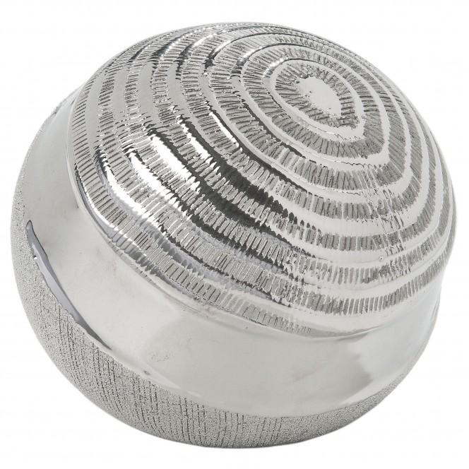 Hainan-DekoKugel-Silber-14x14x12,5-per