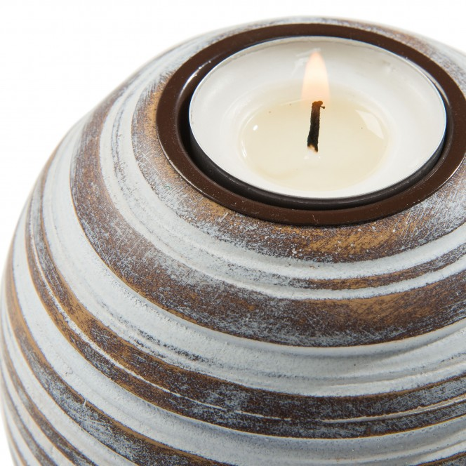 Paul-Teelichthalter-braun-Hellbraun-10x10x9-lup