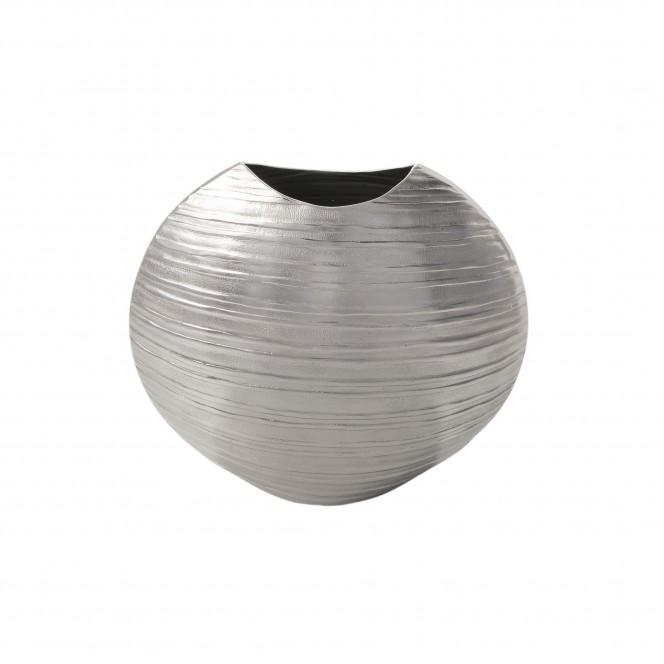 Disc-DekoVase-Silber-14x27x25-per