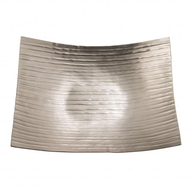 MattSilverLinear-DekoSchale-Silber-26x36eckig-pla