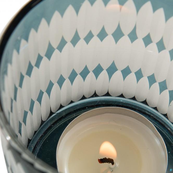 Merlin-Teelichthalter-blau-Grau-7x7x8-lup