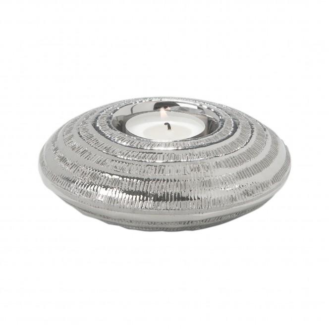 Gansu-Teelichthalter-Silber-12x12x3,8-per