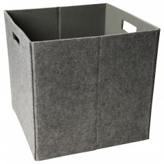 Faltbox-Korb-Hellgrau-32x32x32-per