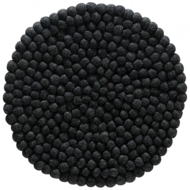 Sannerud-Filzkugel-Sitzkissen-schwarz-Black-40rund-pla