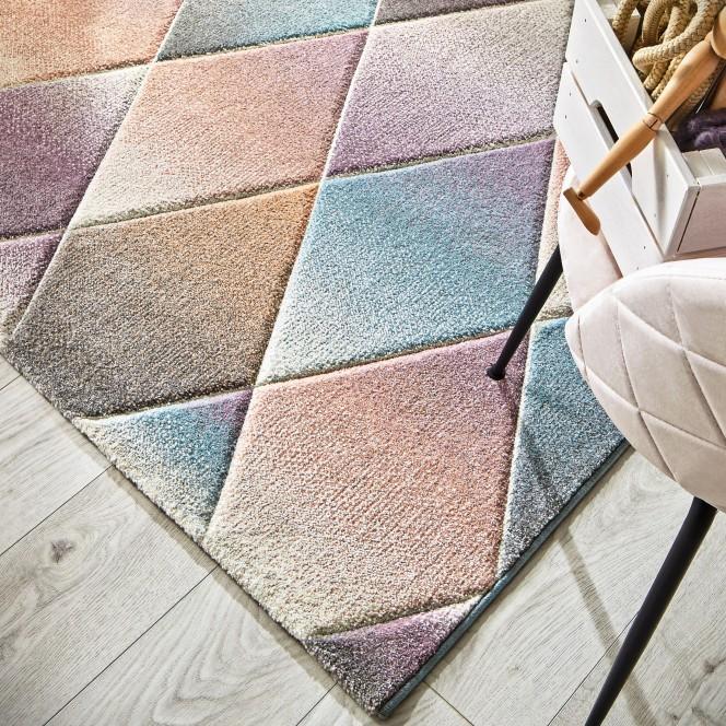 Harlekin-Designerteppich-mehrfarbig-Multicolor-160x230-lup