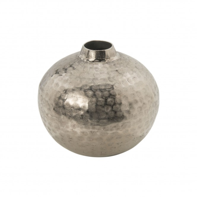 SilverNet-DekoVase-Silber-17x18-per