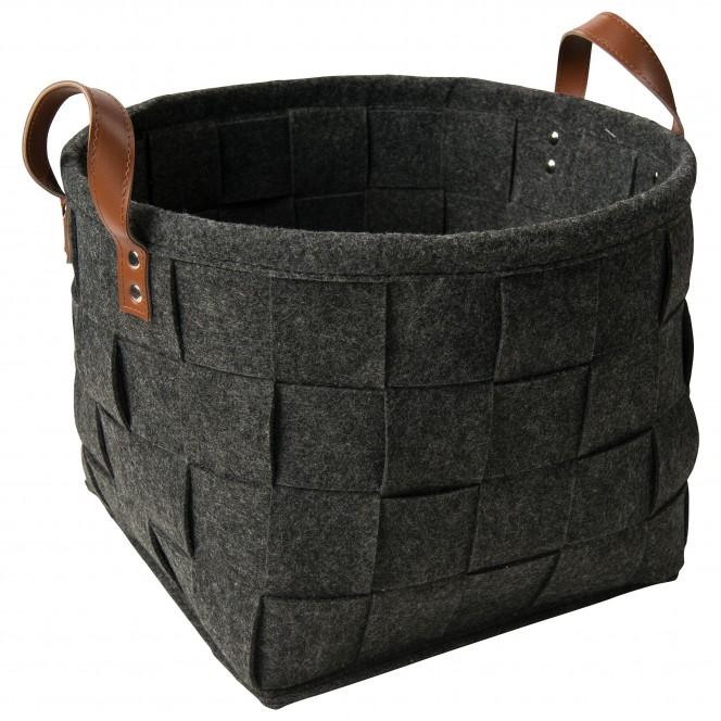 Flechtbox-Korb-Dunkelgrau-33x33x24-per