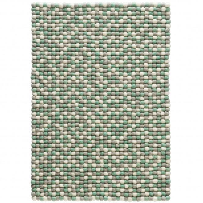 Smedby-FilzkugelTeppich-Gruen-Green-70x100-pla