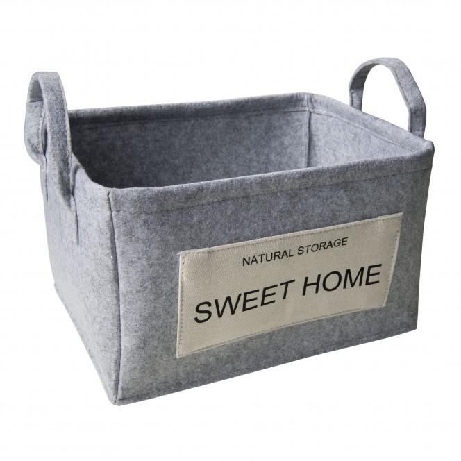 SweetHome-Korb-Hellgrau-27x35x20-per