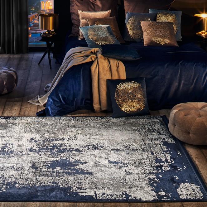 Giano-Vintageteppich-blau-Royalblau-160x230-mil