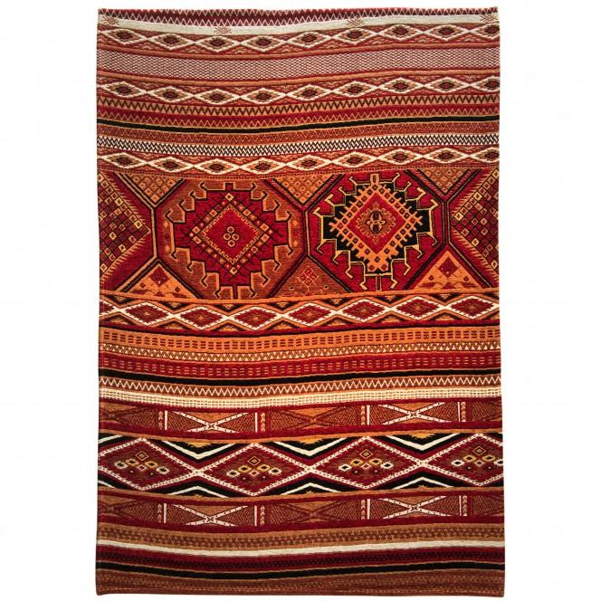 Areli-Designerteppich-rot-Ziegelrot-160x235-pla