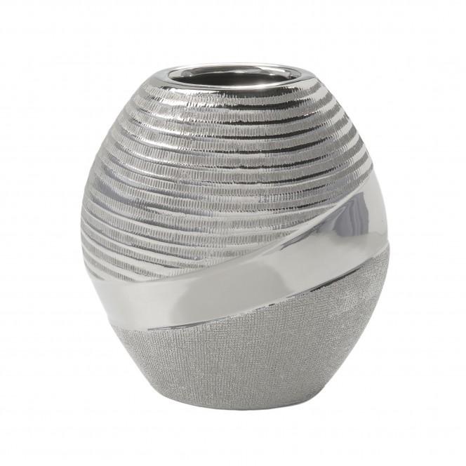 Hainan-DekoVase-Silber-10x18x19,8-per