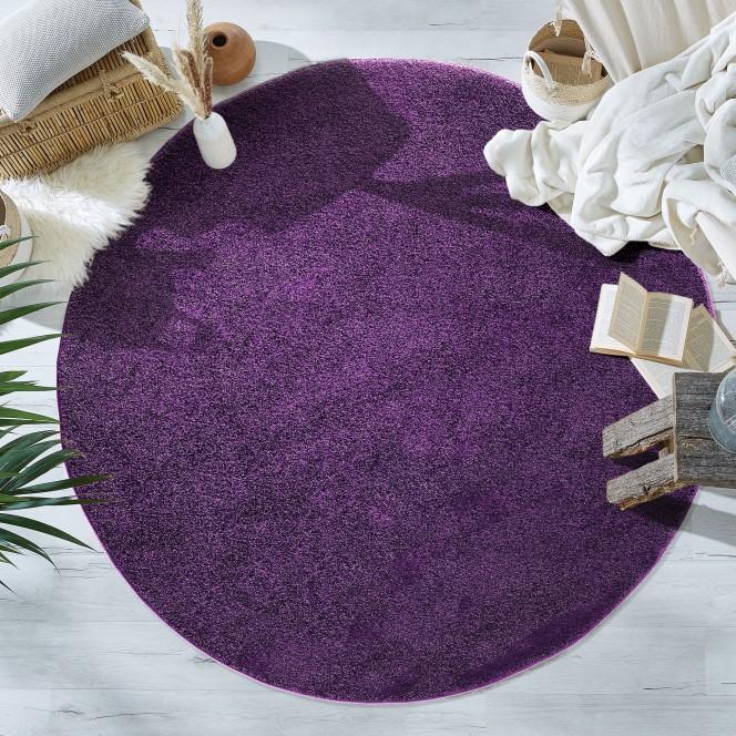 Heritage-Uniteppich-Lila-Purple-120rund-mil